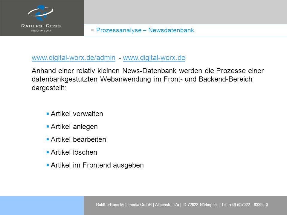 Prozessanalyse – Newsdatenbank