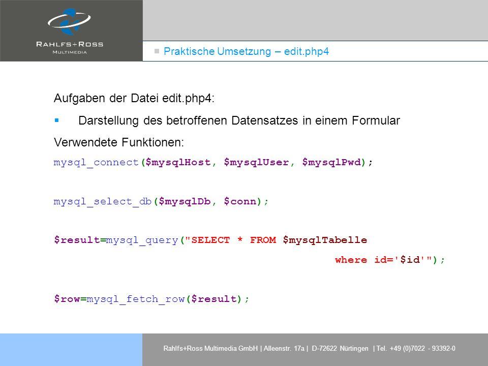 Praktische Umsetzung – edit.php4
