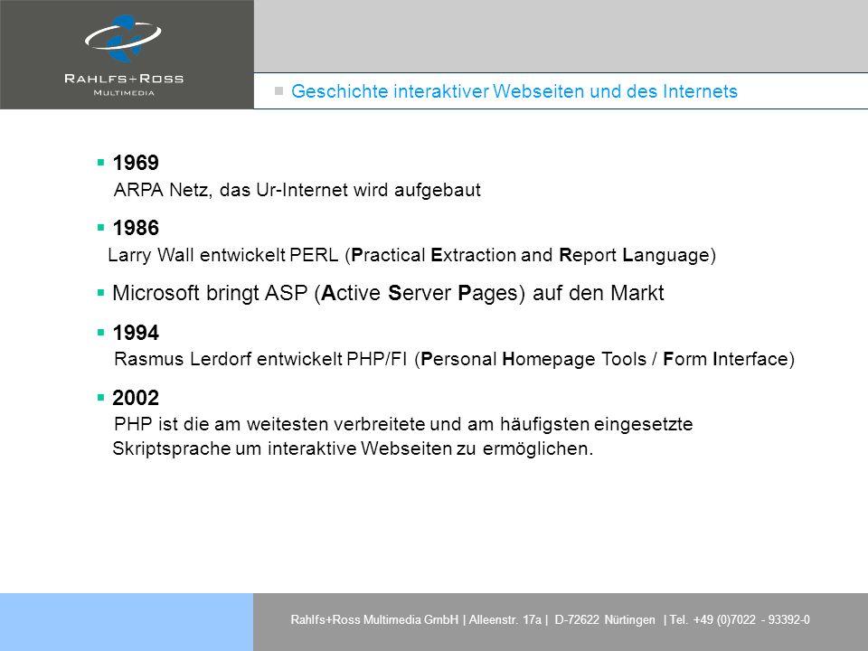 Geschichte interaktiver Webseiten und des Internets