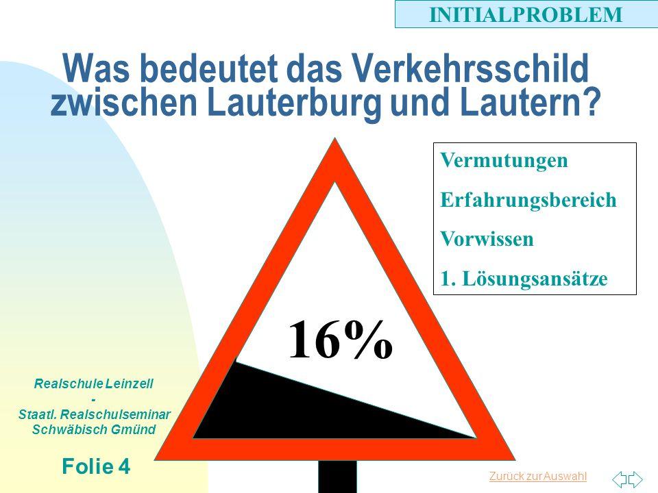 Was bedeutet das Verkehrsschild zwischen Lauterburg und Lautern
