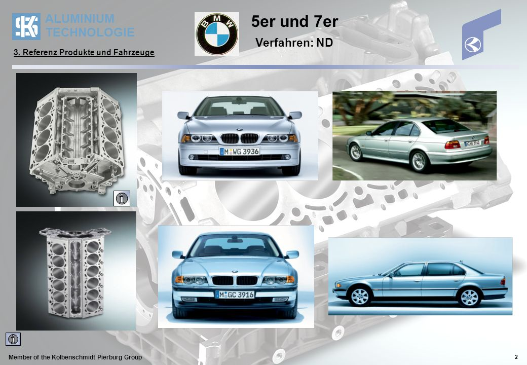 5er und 7er Verfahren: ND 3. Referenz Produkte und Fahrzeuge