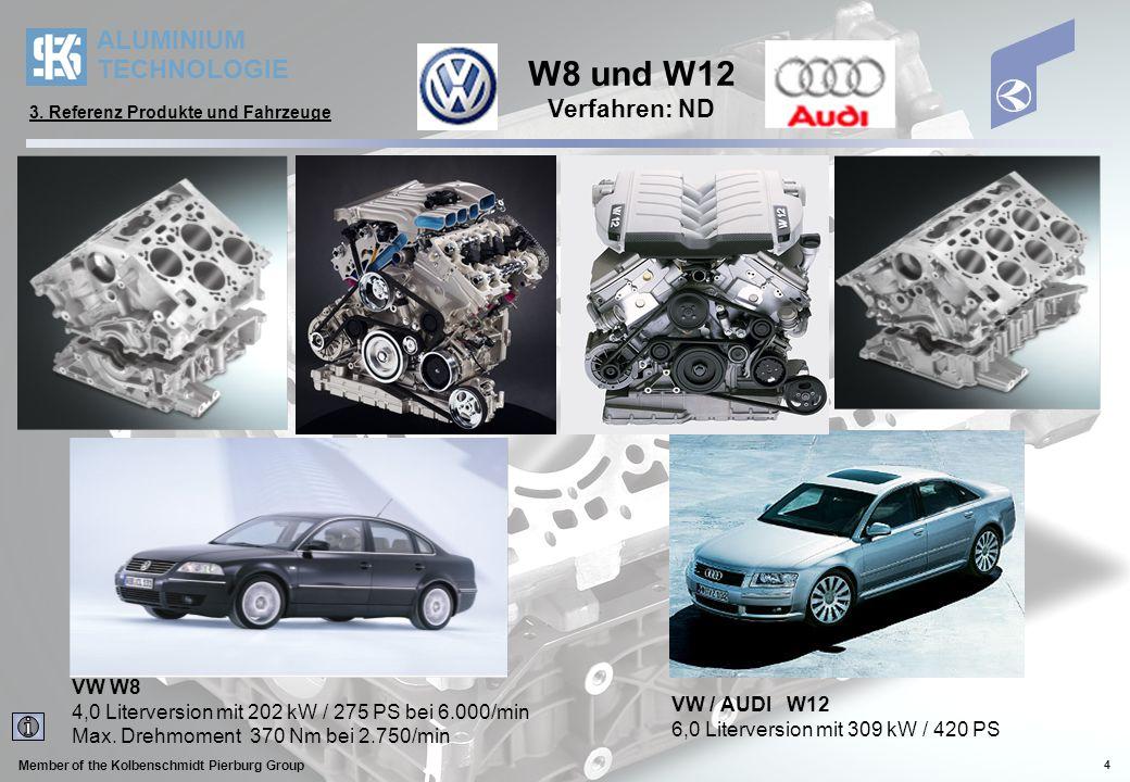 W8 und W12 Verfahren: ND VW W8