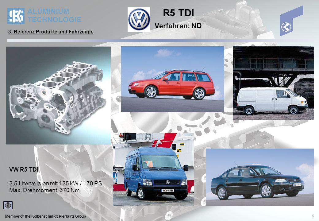R5 TDI Verfahren: ND VW R5 TDI 2,5 Literversion mit 125 kW / 170 PS