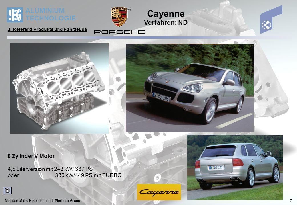 Cayenne Verfahren: ND 8 Zylinder V Motor