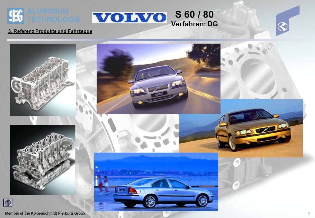 S 60 / 80 Verfahren: DG 3. Referenz Produkte und Fahrzeuge