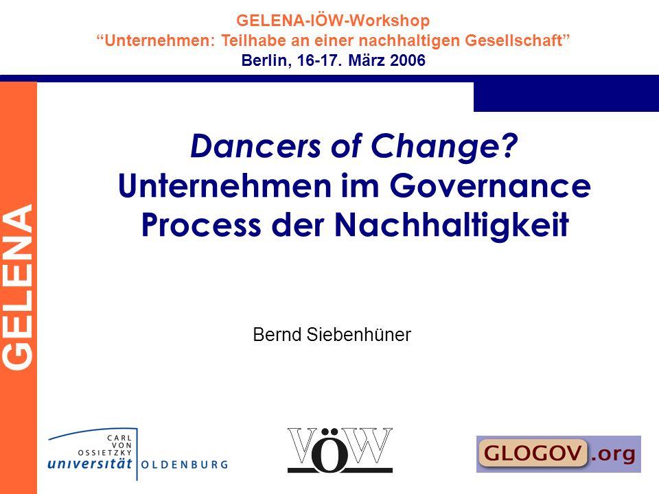 Dancers of Change Unternehmen im Governance Process der Nachhaltigkeit