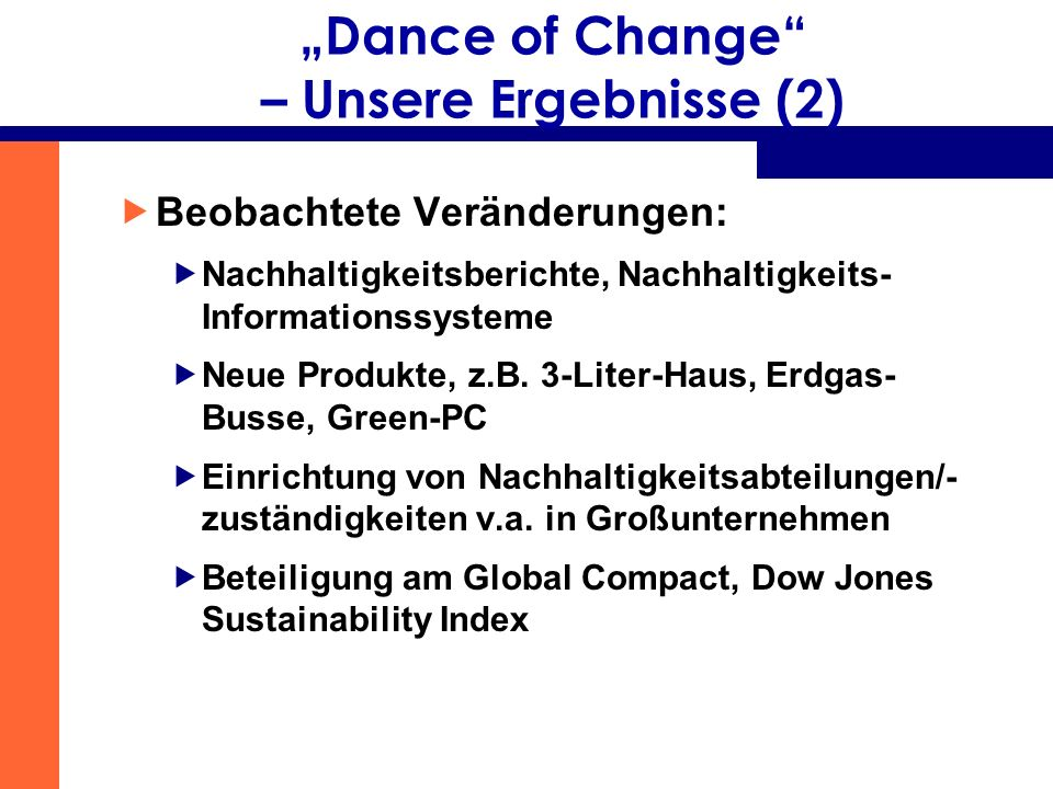 """""""Dance of Change – Unsere Ergebnisse (2)"""