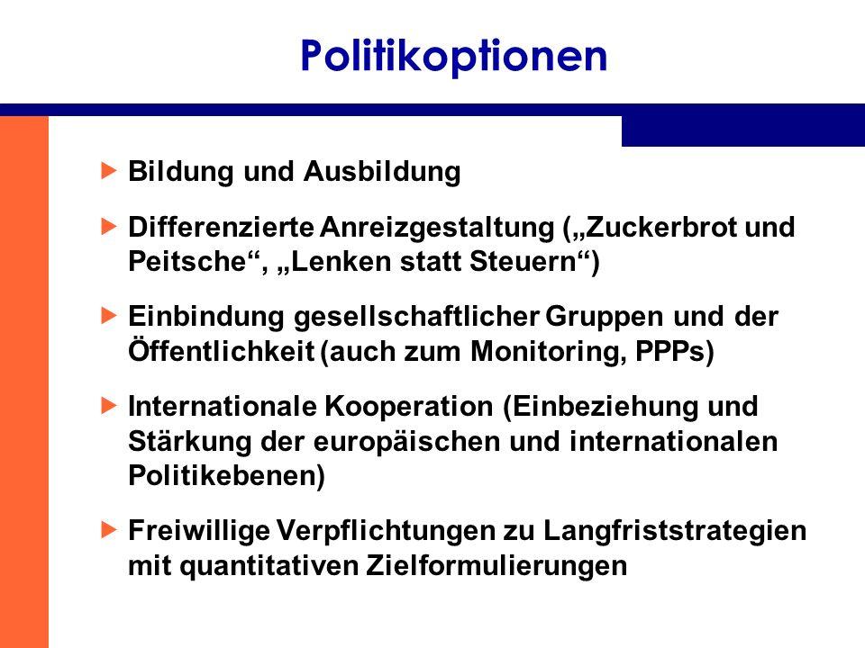 Politikoptionen Bildung und Ausbildung
