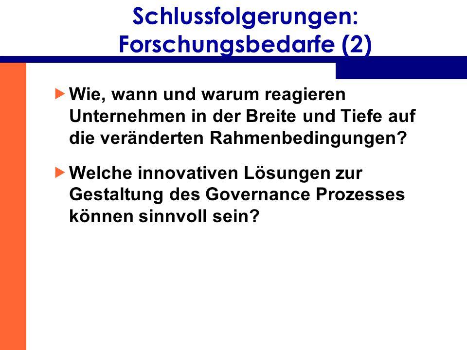 Schlussfolgerungen: Forschungsbedarfe (2)