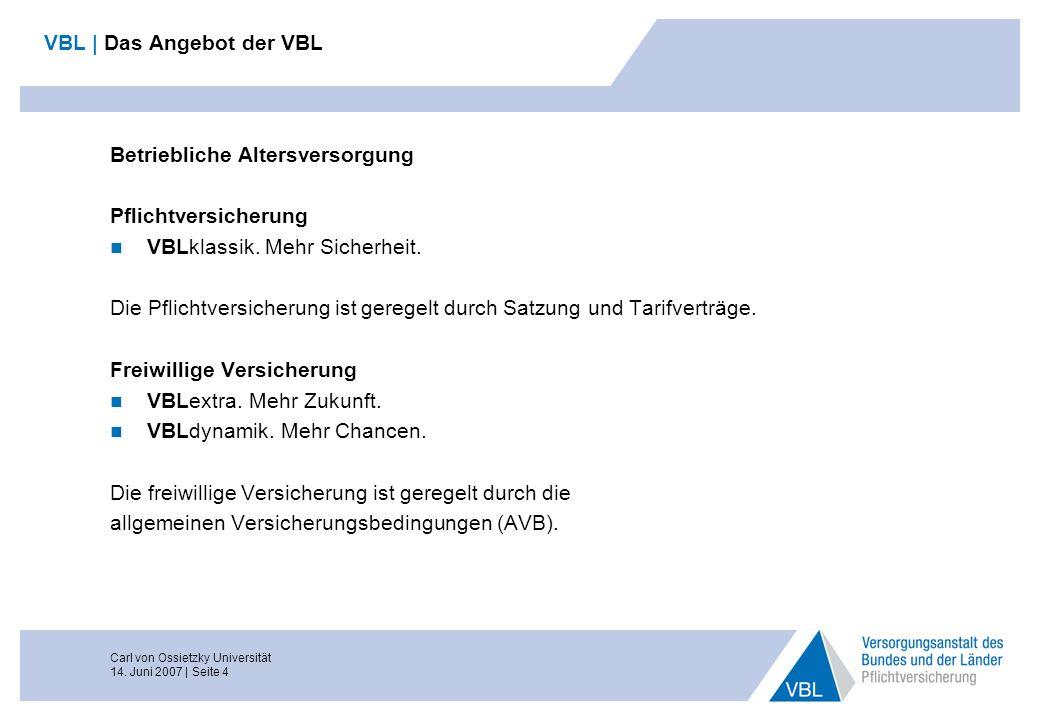 VBL | Das Angebot der VBL