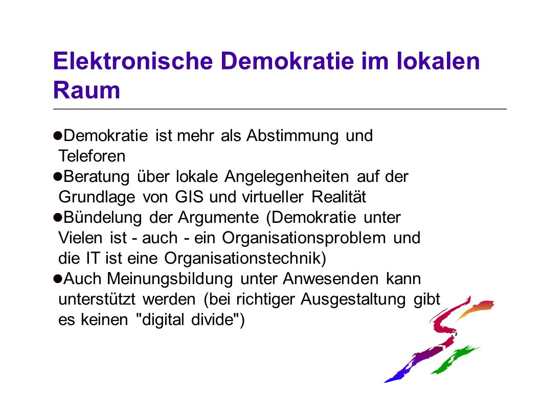 Elektronische Demokratie im lokalen Raum