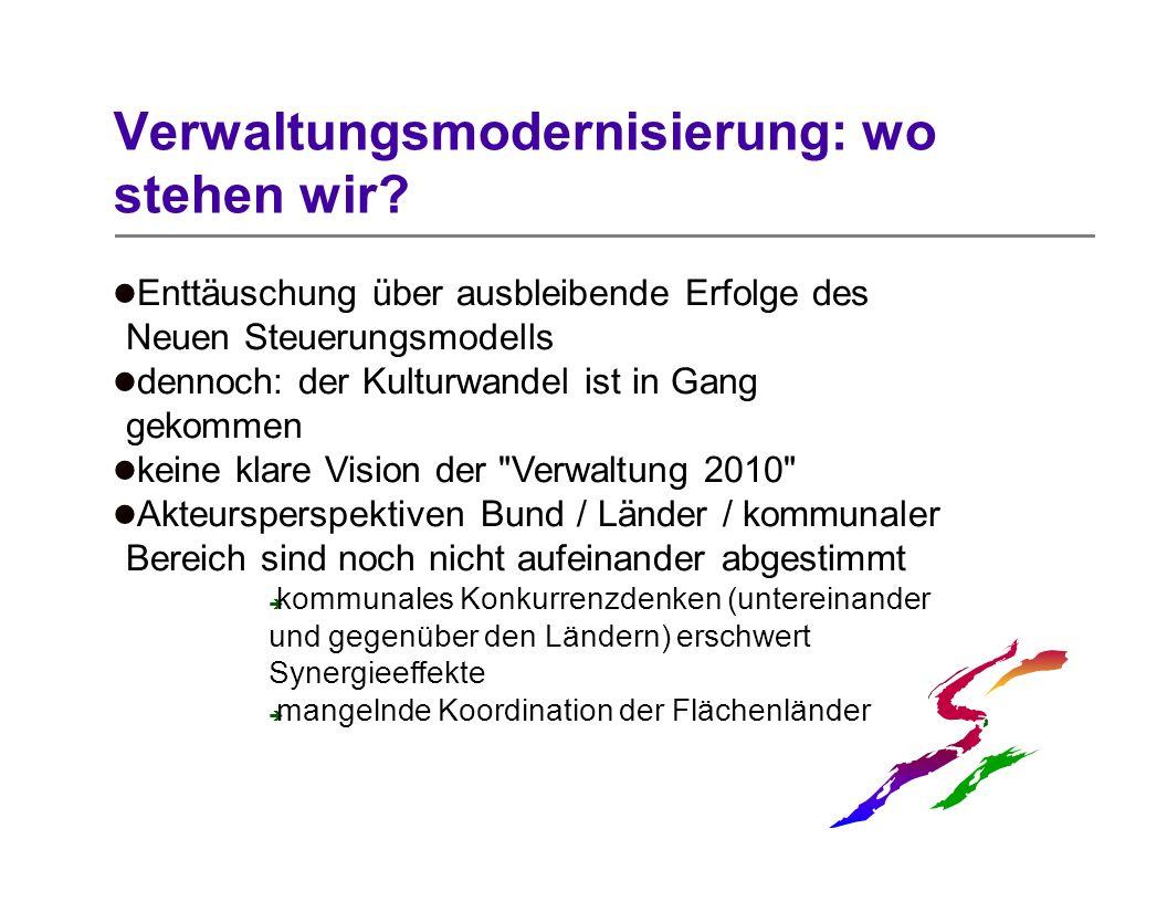 Verwaltungsmodernisierung: wo stehen wir