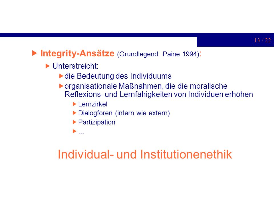 Individual- und Institutionenethik