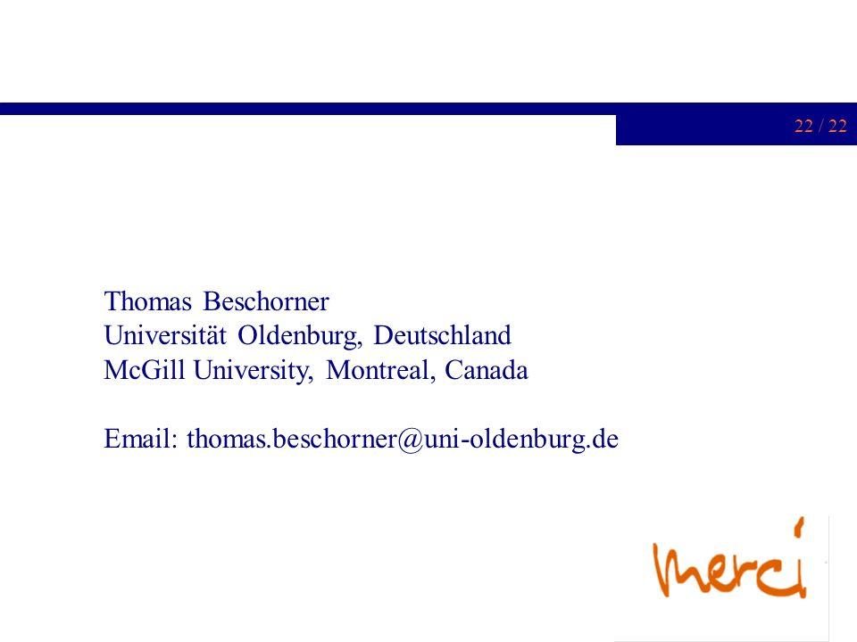Thomas Beschorner Universität Oldenburg, Deutschland.