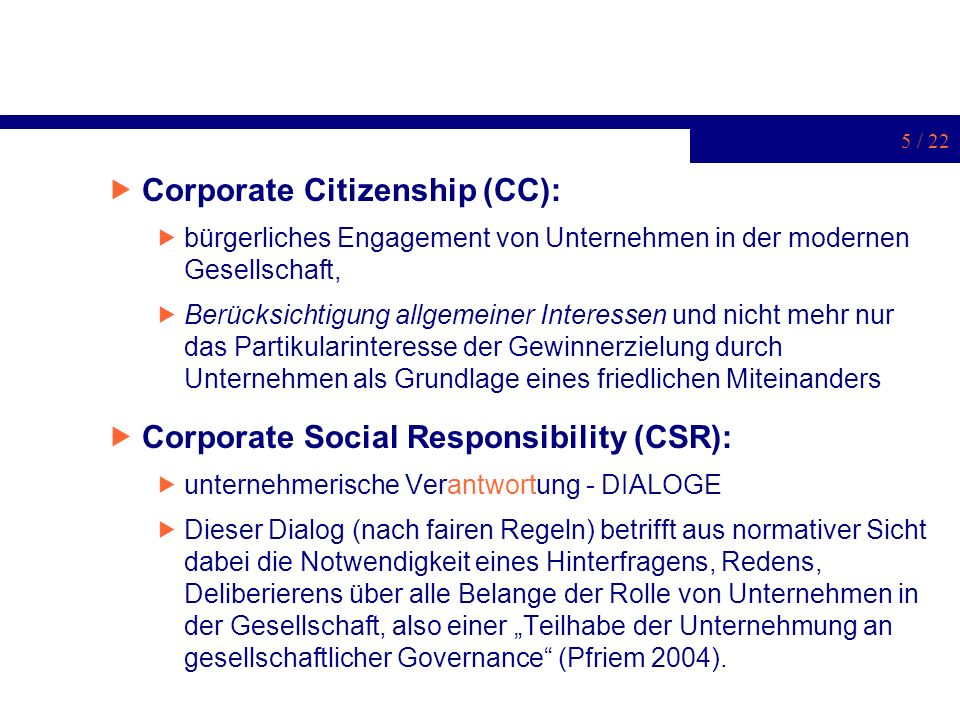 Corporate Citizenship (CC):