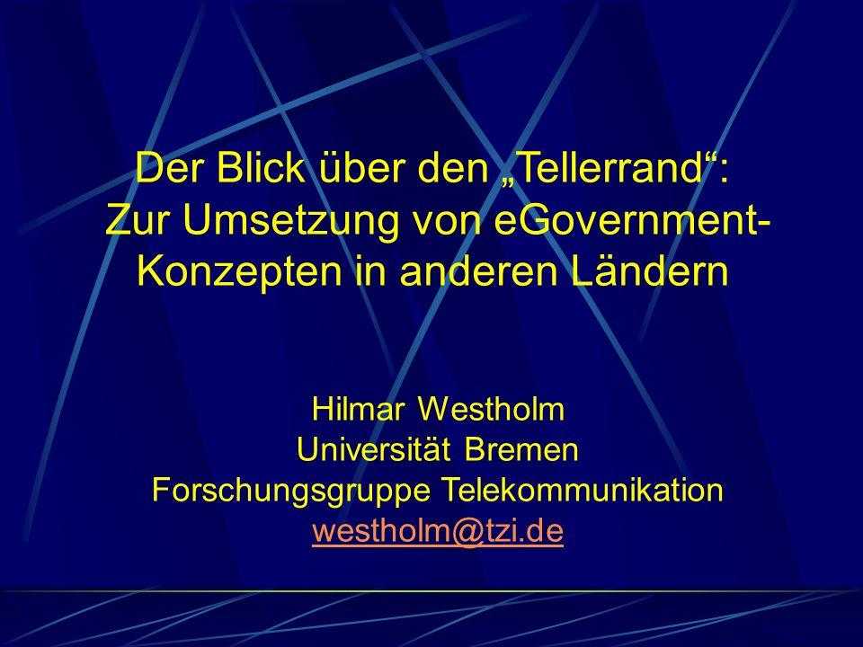 """Der Blick über den """"Tellerrand : Zur Umsetzung von eGovernment-"""