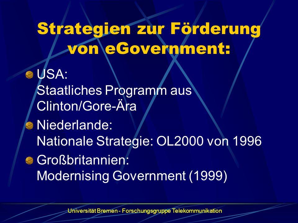 Strategien zur Förderung von eGovernment: