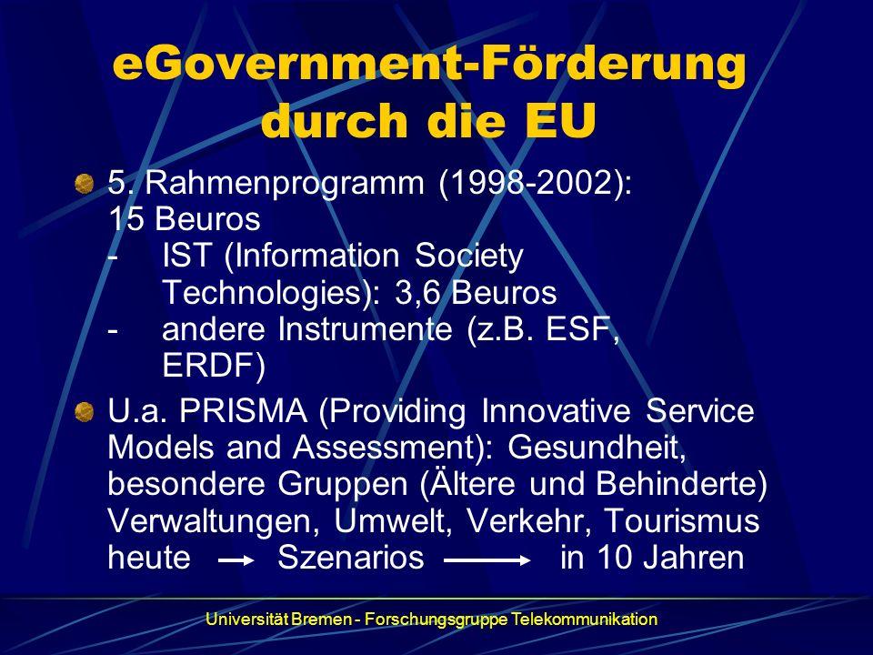 eGovernment-Förderung durch die EU