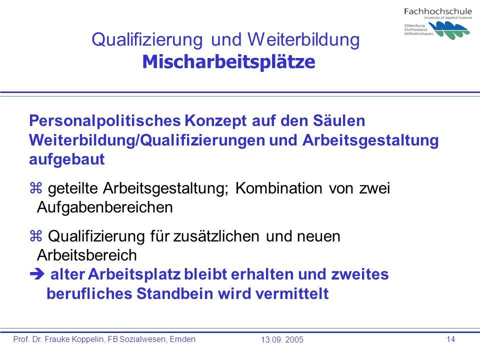Qualifizierung und Weiterbildung Mischarbeitsplätze