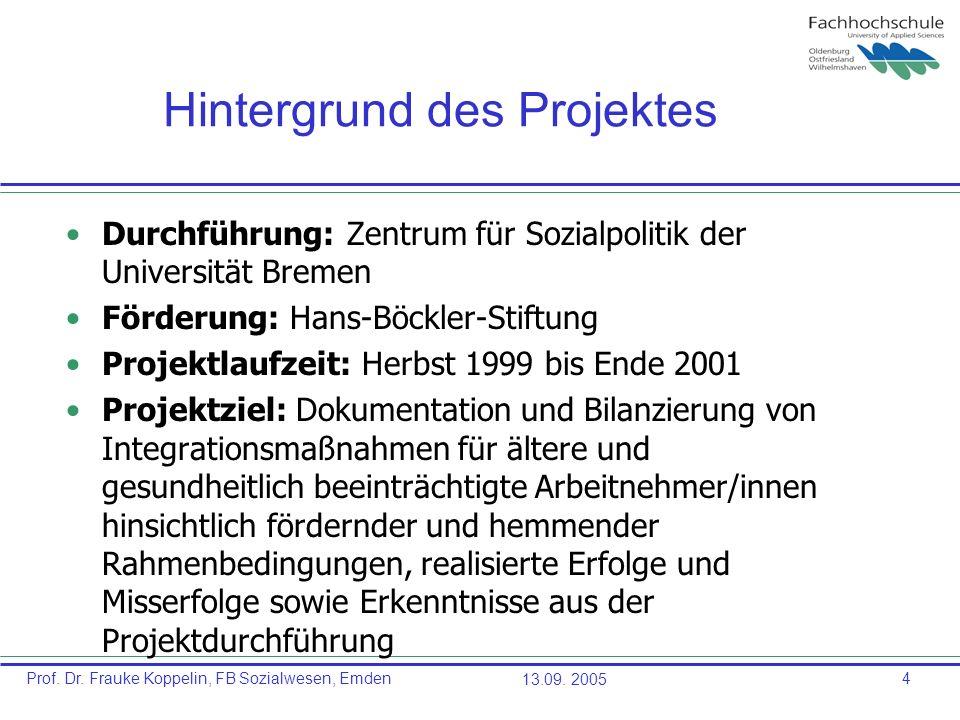 Hintergrund des Projektes