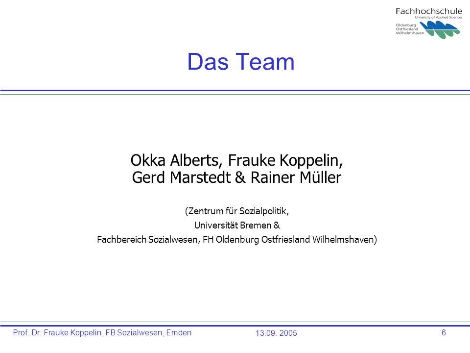 Das Team Okka Alberts, Frauke Koppelin, Gerd Marstedt & Rainer Müller