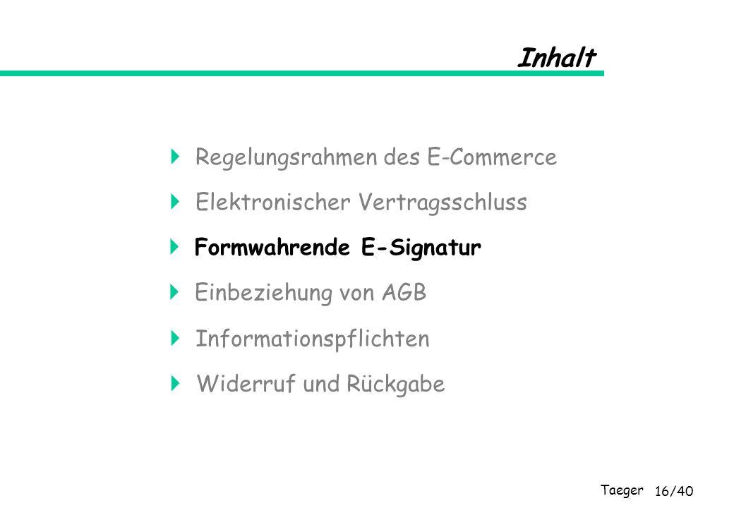  Regelungsrahmen des E-Commerce
