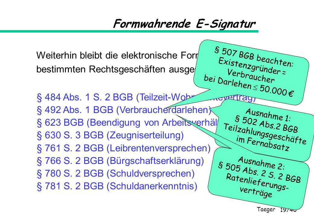 Formwahrende E-Signatur