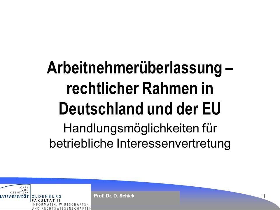 Arbeitnehmerüberlassung – rechtlicher Rahmen in Deutschland und der EU