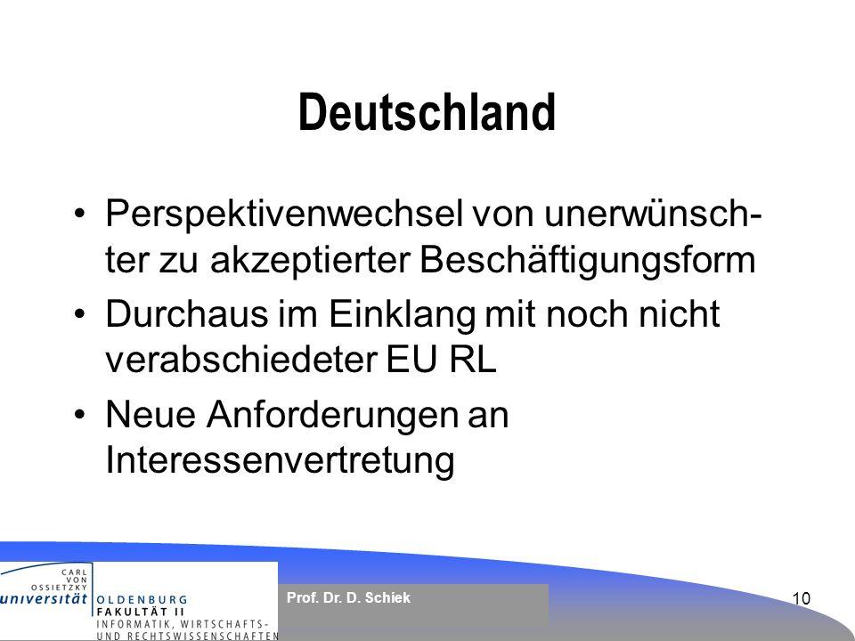 Arbeitnehmerüberlassung – rechtlicher Rahmen in Deutschland und der ...