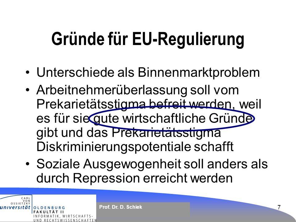 Gründe für EU-Regulierung