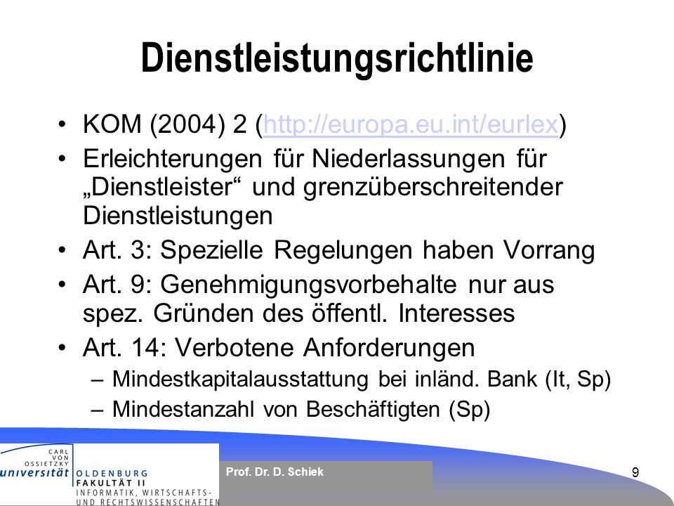 Dienstleistungsrichtlinie