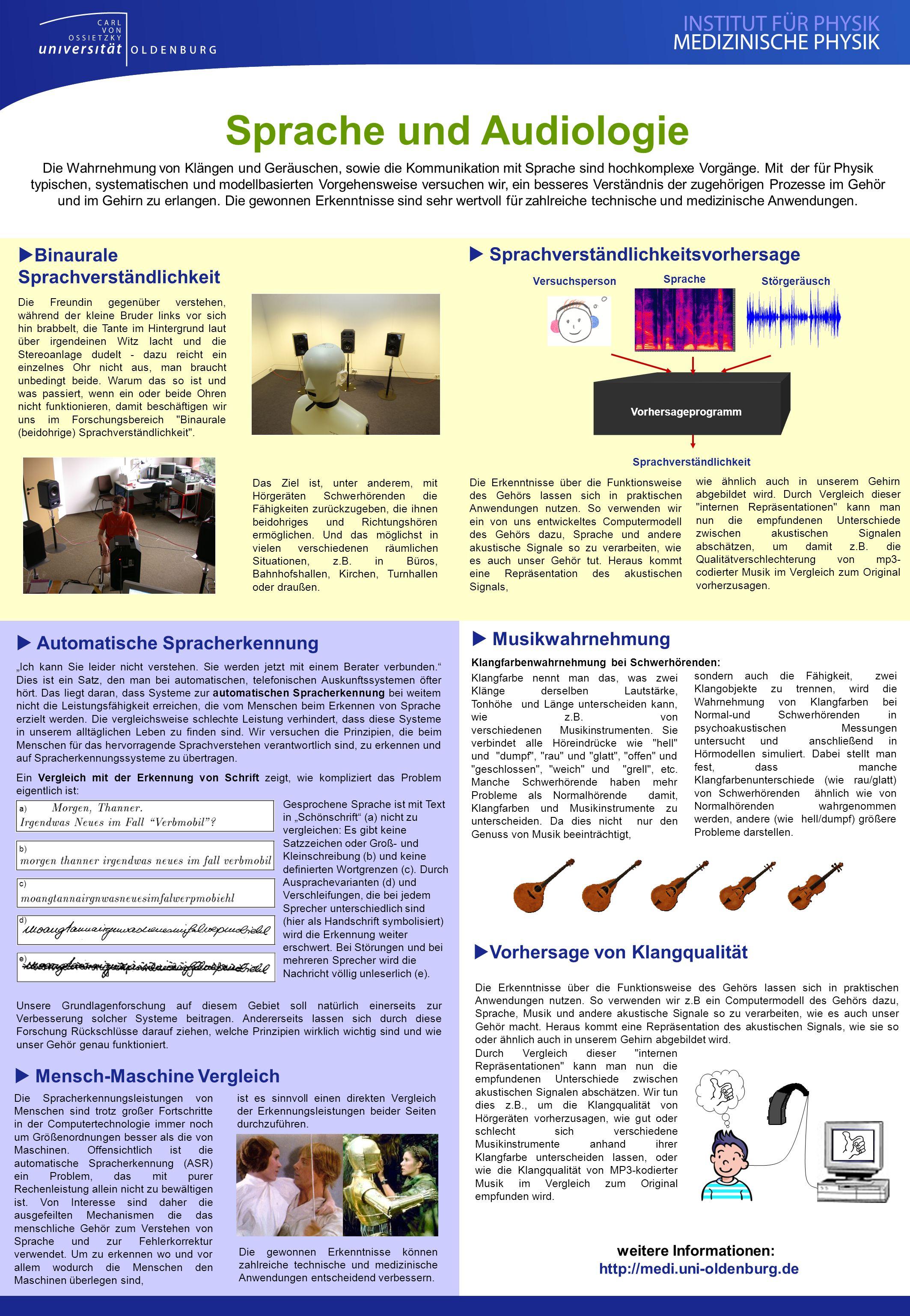 Sprache und Audiologie weitere Informationen: