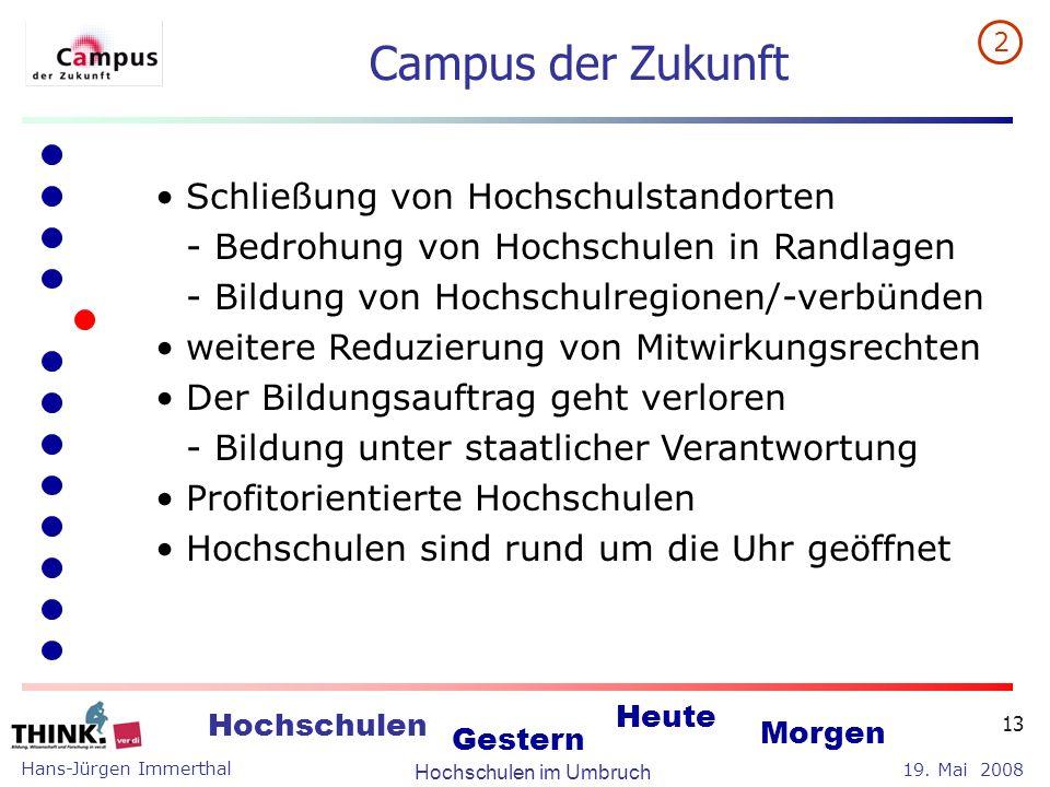 Campus der Zukunft Schließung von Hochschulstandorten