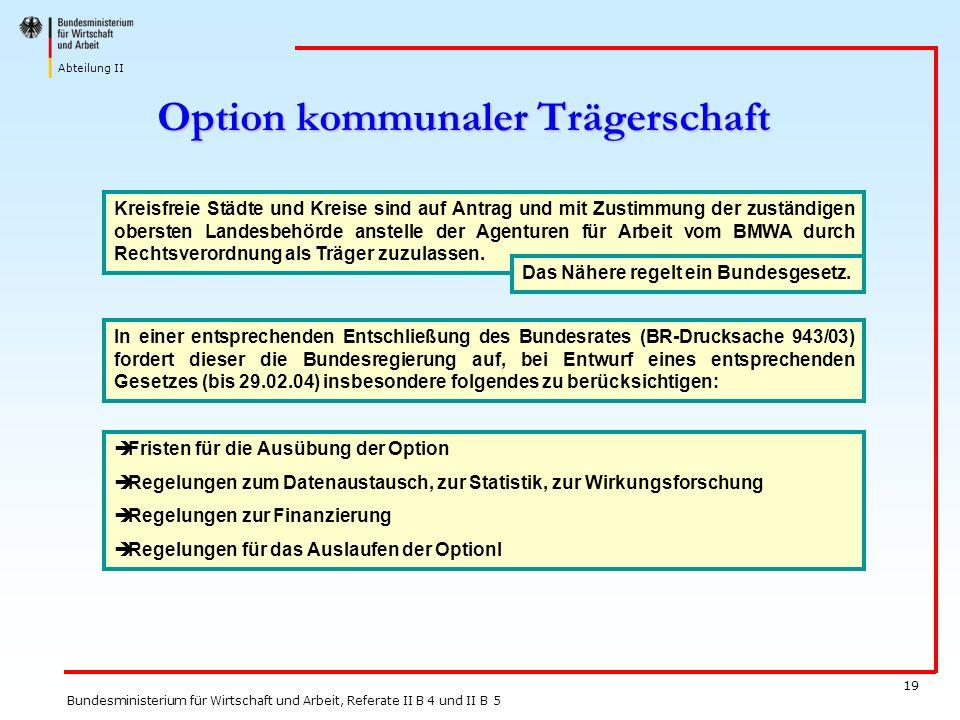 Option kommunaler Trägerschaft