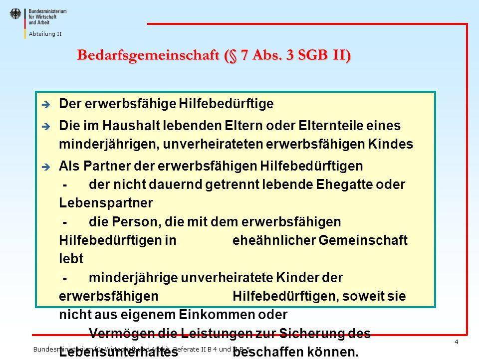 Bedarfsgemeinschaft (§ 7 Abs. 3 SGB II)