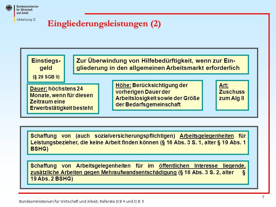 Eingliederungsleistungen (2)