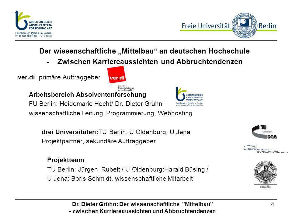 """Der wissenschaftliche """"Mittelbau an deutschen Hochschule"""