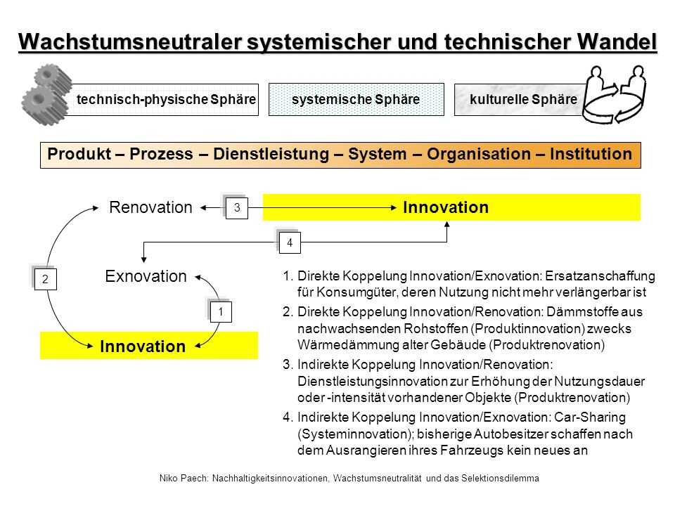 Wachstumsneutraler systemischer und technischer Wandel