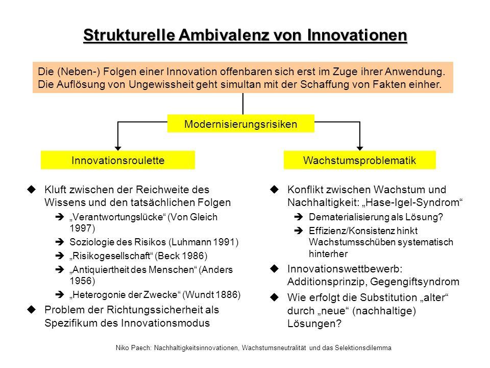 Strukturelle Ambivalenz von Innovationen