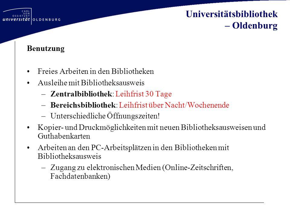Universitätsbibliothek – Oldenburg