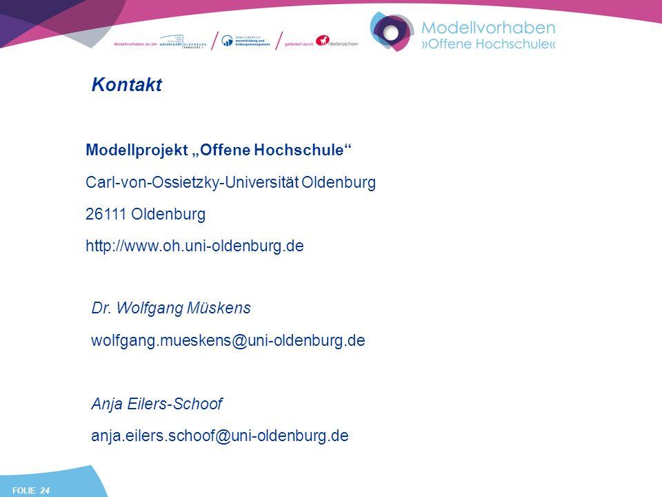 """Kontakt Modellprojekt """"Offene Hochschule"""