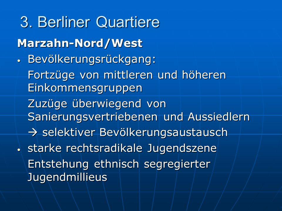 3. Berliner Quartiere Marzahn-Nord/West Bevölkerungsrückgang: