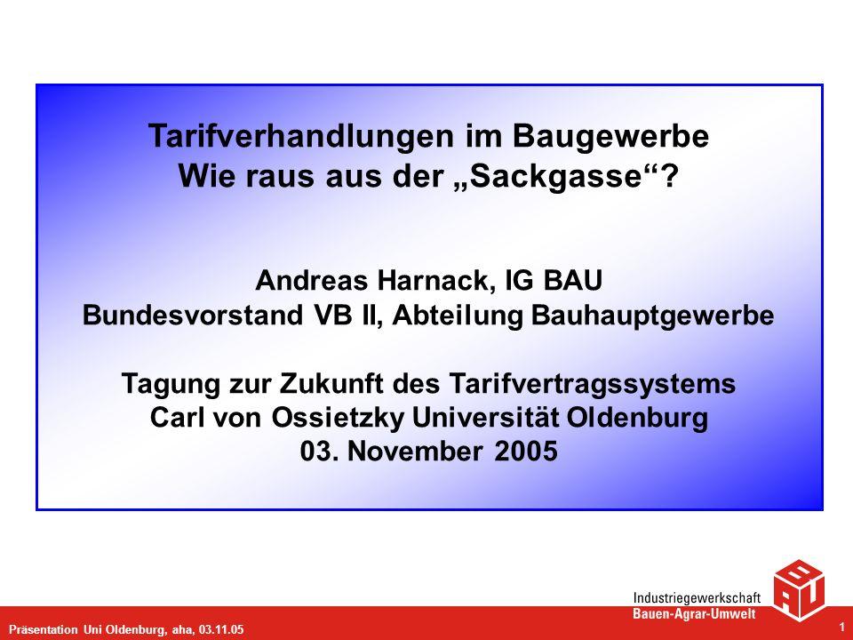 """Tarifverhandlungen im Baugewerbe Wie raus aus der """"Sackgasse"""