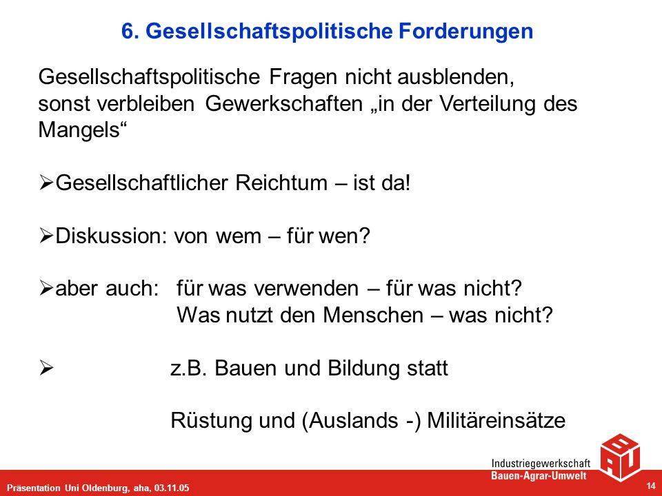6. Gesellschaftspolitische Forderungen