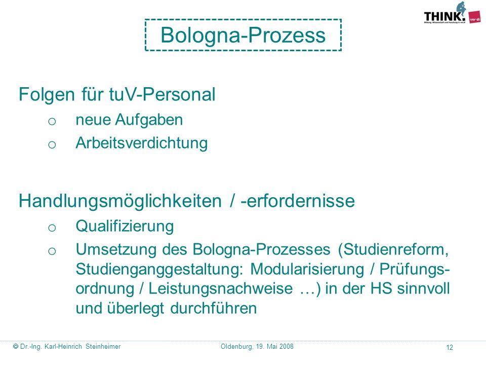Bologna-Prozess Folgen für tuV-Personal