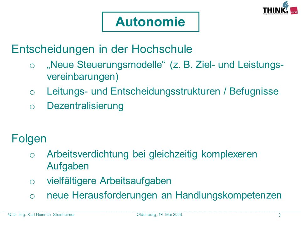 Autonomie Entscheidungen in der Hochschule Folgen