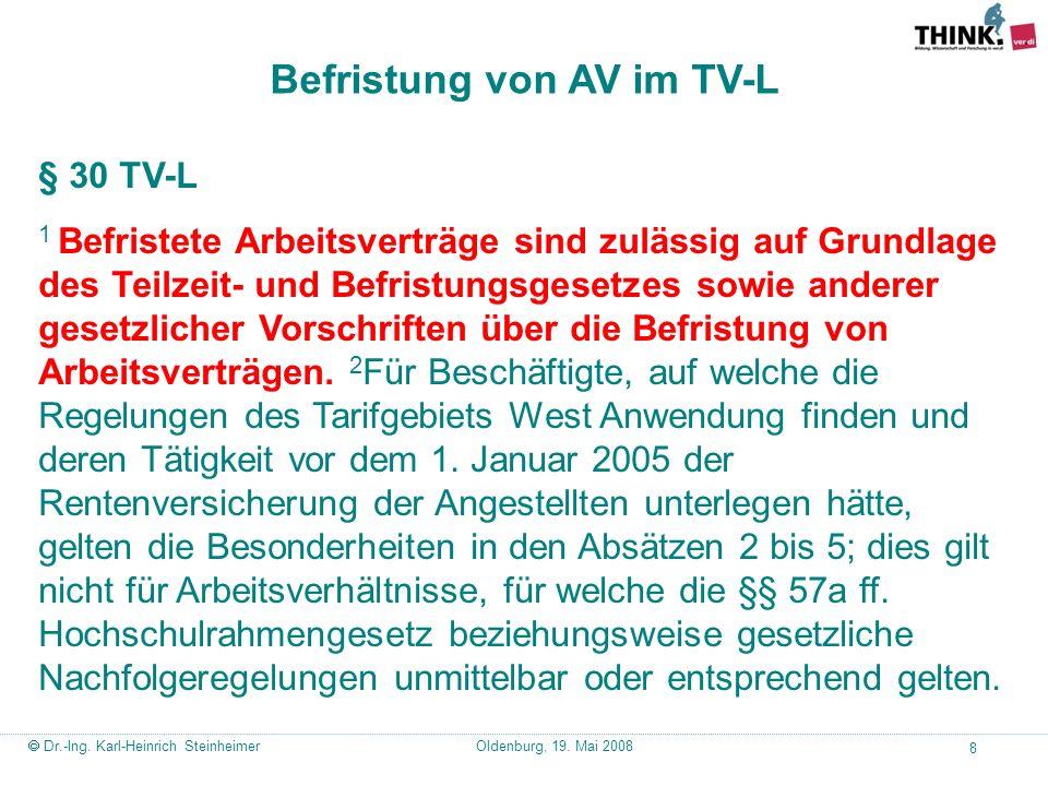 Befristung von AV im TV-L