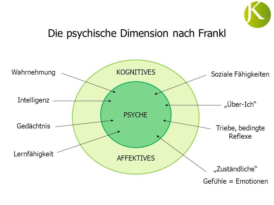 Die psychische Dimension nach Frankl
