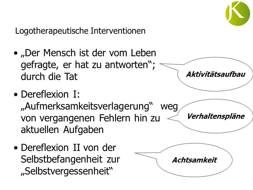 Logotherapeutische Interventionen