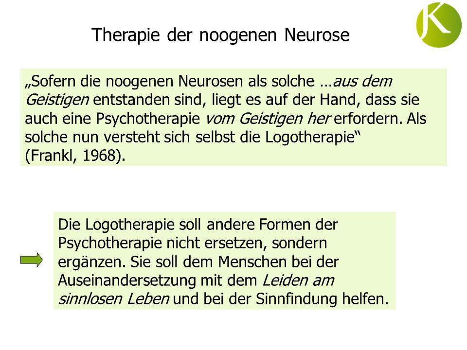 Therapie der noogenen Neurose